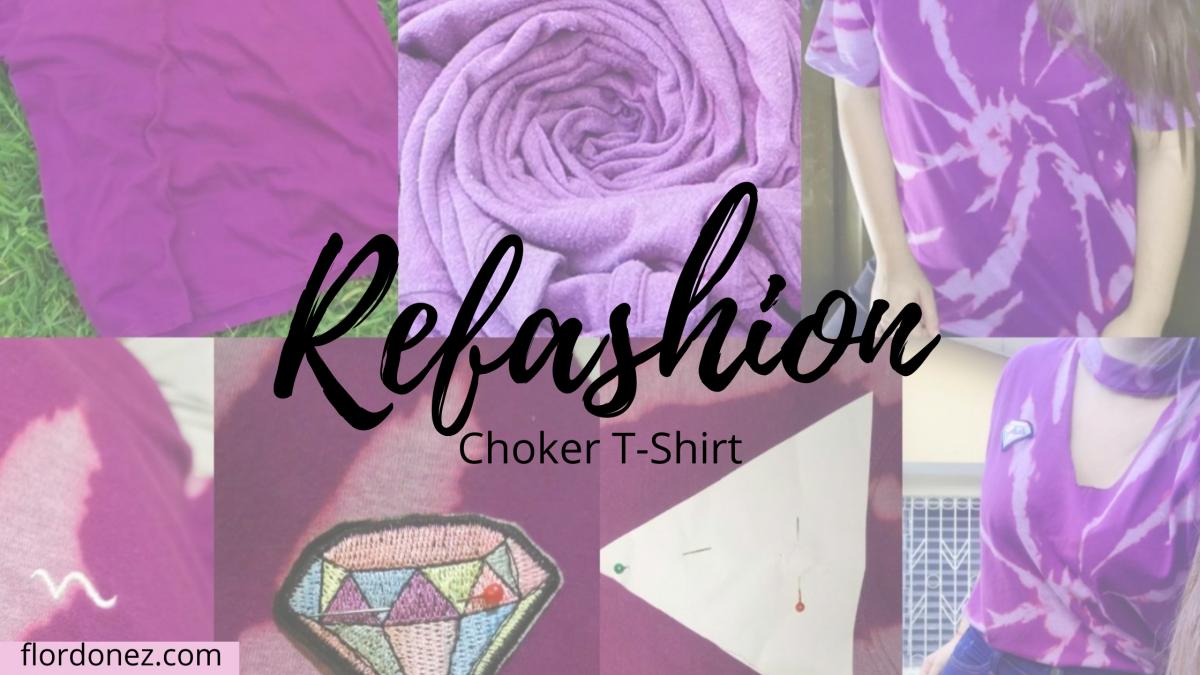 DIY Camiseta estilo «Choker»